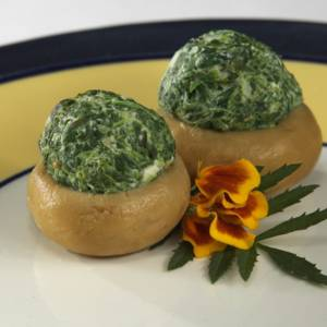 JUMBO STUFFED MUSHROOMS FLORENTINE