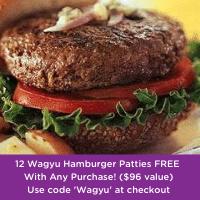 Wagyu Hamburger patties promotion pop-up